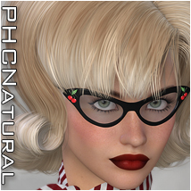 PHCNatural : Hr-119 (requested) Hair Software Themed P3D-Art