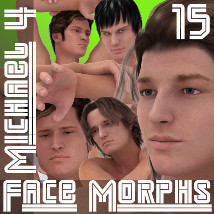 Farconville's Face Morphs 15 for Michael 4 3D Figure Essentials farconville