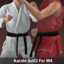 Karate Suit 2 for M4 3D Figure Assets zollacce