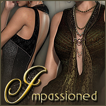 Impassioned Gown V4/A4 3D Models 3D Figure Essentials Sveva