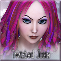 Twizted Josie Hair 3D Figure Essentials TwiztedMetal