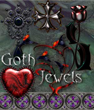 Harvest Moons Goth Jewels Themed 2D And/Or Merchant Resources MOONWOLFII