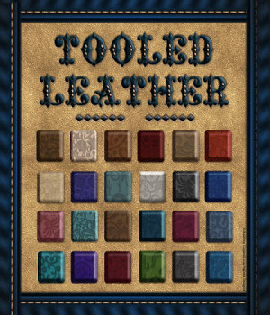 Tooled Leather Styles with Free Gift 3D Models 2D fractalartist01