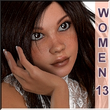 AM: Woman 13- Faceshapes Merchant Ressource 3D Figure Assets LUNA3D