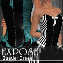Expose:  Bustier Dress 3D Figure Assets ANG3L_R3D
