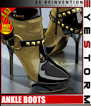 ES - REINVENTION - for Ankle Boots (idler168) 3D Figure Essentials 3D Models EyeStorm