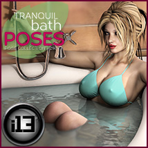 i13 Tranquil Bath POSES 3D Figure Essentials 3D Models ironman13