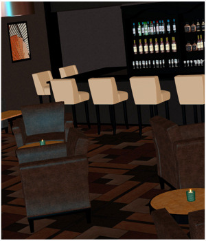 Renovated: Lounge Bar Software Props/Scenes/Architecture Themed 3-DArena