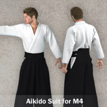 Aikido Suit for M4 3D Figure Assets zollacce