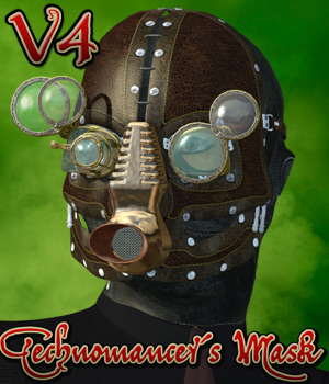 Technomancer Mask V4 edition 3D Models 3D Figure Assets Cybertenko