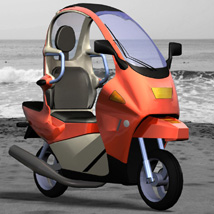 C1 Personal Scooter (for Poser) 3D Models Digimation_ModelBank