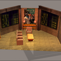 Talk Show Set Two 3D Models DexPac