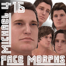 Farconville's Face Morphs 16 for Michael 4 3D Figure Essentials farconville
