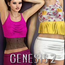 2P3D_3DS Hazissa Outfit 3D Figure Essentials 3DSublimeProductions