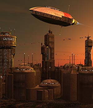 SciFi Greeble City 3D Models ile-avalon