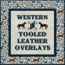 Design Resource: Western & Tooled Leather Overlays 2D Graphics fractalartist01