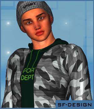 Cool & Casual Texture Add-On for Downtown Streetwear by OOT 3D Figure Assets SF-Design