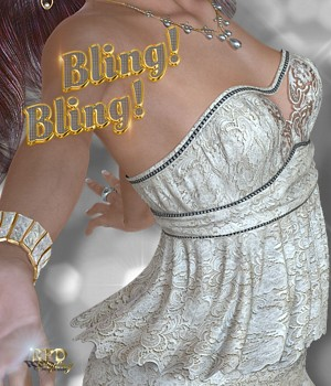 Happy Hour III - Bling! Bling! 3D Figure Essentials 3D Models renapd