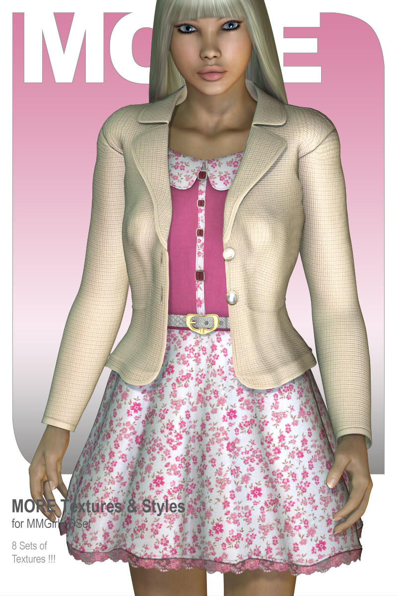MORE Textures & Styles for MMGirly DSet by motif