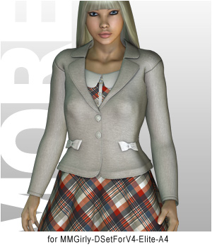 MORE Textures & Styles for MMGirly DSet 3D Figure Essentials 3D Models motif