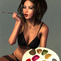 5TEASE PinUp Vol 4: Paintergirl - Poses and Props for V4 & G2F image 3
