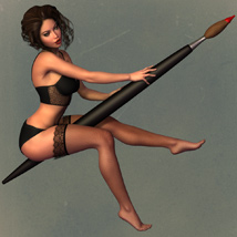 5TEASE PinUp Vol 4: Paintergirl - Poses and Props for V4 & G2F image 5