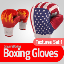 Textures Set 1 for Boxing Gloves 3D Figure Assets gravureboxing