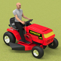 Ride On Mower (for Poser) 3D Models Digimation_ModelBank