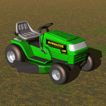 Ride On Mower (for Poser) image 3