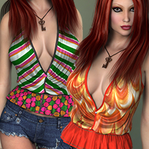 NYC Couture: Halter Shirt 3D Figure Essentials 3DSublimeProductions