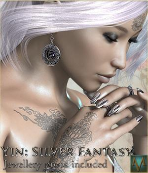 MRL Yin - Silver Fantasy Accessories Characters Software Mihrelle