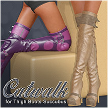 Catwalk for Thigh Boots Succubus 3D Figure Essentials Atenais