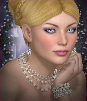 Dazzle for Adorned in Pearls 3D Figure Essentials 3D Models -Wolfie-