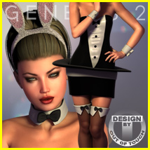 Bunny In A Hat for Genesis 2 Female(s) Clothing Themed outoftouch