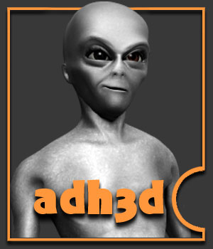 Classic Alien for adman 3D Figure Assets adh3d