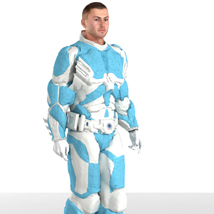 MDL Armor (M4) (for Poser) Clothing Themed VanishingPoint