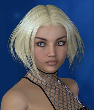 LittleStar Hair for V4 and G2 3D Figure Assets SWAM