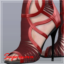 Cut-out ankle shoes 3D Figure Assets -supernova-