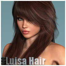 Luisa Hair and OOT Hairblending 3D Figure Assets outoftouch