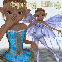 Spring Bling Stand Alone Figures Clothing Themed JudibugDesigns