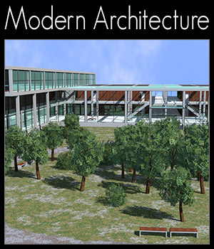 College, Campus scene 3D Models 2nd_World