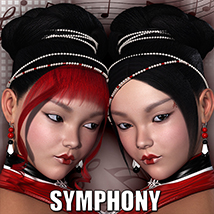 Symphony Hair 3D Figure Assets 3D Models Virtual_World