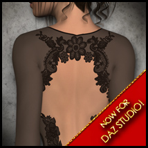 Sexy Skinz - Lace Bodysuits for DAZ Studio Themed Clothing vyktohria