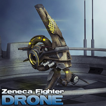 Zeneca Fighter Drone 3D Figure Assets 3D Models DarksealStudios