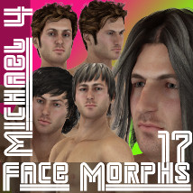 Farconville's Face Morphs 17 for Michael 4 3D Figure Essentials farconville