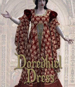 Doredhiel Dress 3D Figure Assets Tipol