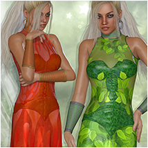 Elements for Waterfall Dress Clothing Atenais
