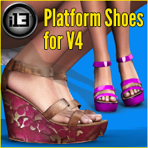 i13 Platform Shoes for V4 3D Figure Essentials ironman13