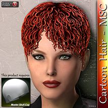 Cartoon Hair - MSC 3D Figure Assets 3Dream