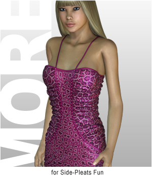 MORE Textures & Styles for Side-Pleats Fun 3D Figure Essentials 3D Models motif